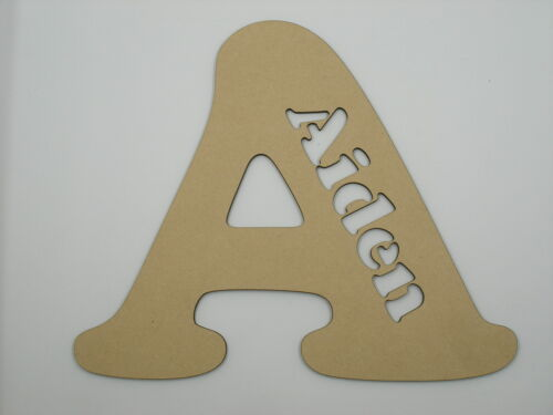 20cm Kids Wooden Stencil Words Wood Letters Name COO