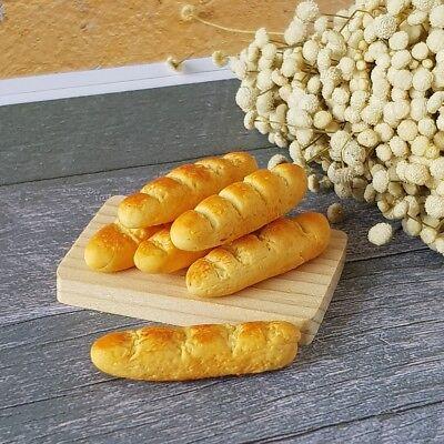 10x Loose Mix Bread Bakery Baguettes Dollhouse Miniature Food Supply Decor Lot