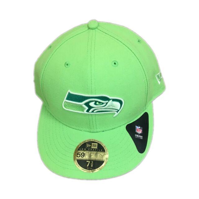 2401280ac2037 Era Seattle Seahawks Neon Green Low Profile 59fifty Team Tonal 7 3 8 ...