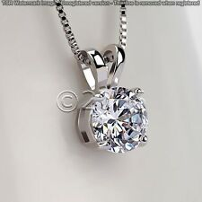 Beautiful 1.63 ct Off White Yellow Moissanite .925 Sterling Silver Pendant D12