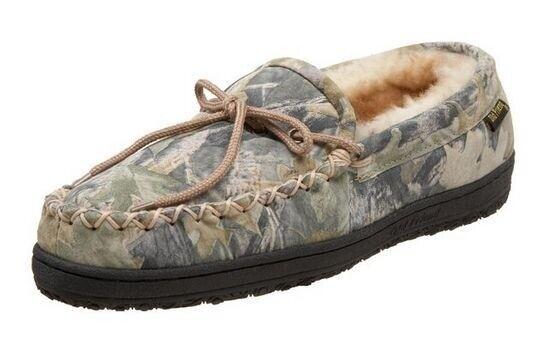 Old Friend Men's Camouflage Moccasins Slip On Loafer shoes Chestnut 421124