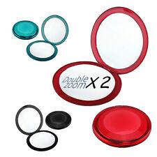 2x Magnifier Donna Tasca Borsetta Compatto Borsetta SPECCHIO VIAGGIO DOPPIA Makeup