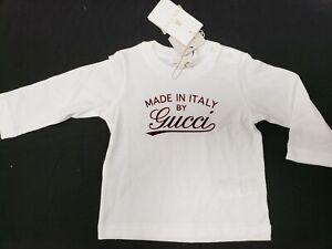 e9988191 NWT NEW Gucci baby boys orange white logo T-shirt 0/3 3/6 6/9 9/12 ...