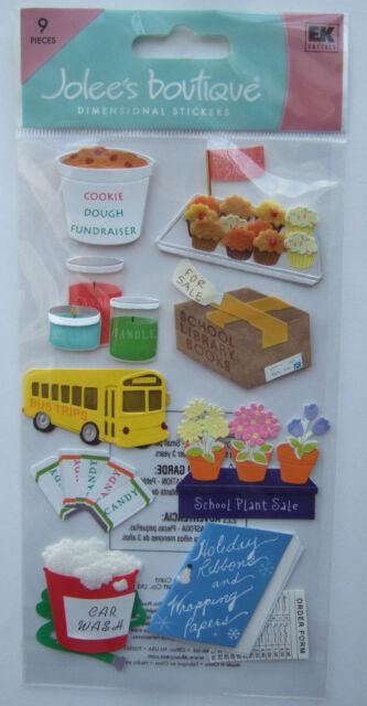 ~FUNDRAISERS~ Jolee's Boutique Dimensional Stickers; SCHOOL bake sale, car wash