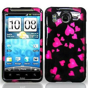 For-HTC-Inspire-4G-Protector-Hard-Case-Snap-on-Phone-Cover-Raining-Hearts