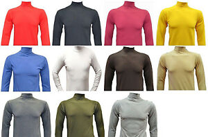 4a9ecf58f762 MEN S ROLL   POLO NECK GOOD QUALITY LONG-SLEEVE COTTON TOPS
