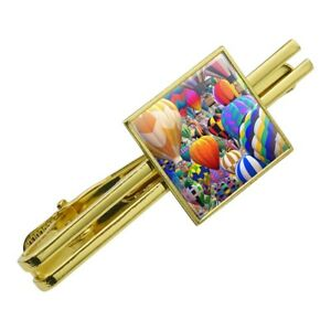 Hot Air Balloon Square Tie Clips