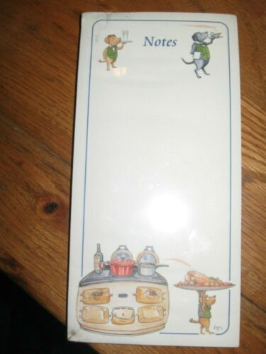Note Pad NEW Bryn Parry Short Magnetic List Dogs Serving Food and Drink
