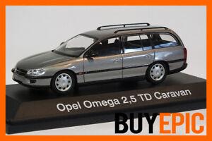 Schuco-Opel-Omega-B-2-5-TD-Caravan-Kombi-1-43-Grau-Modellauto-RAR