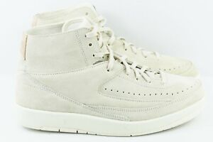 d5b95972ee6 Nike Air Jordan 2 Retro Decon Mens Size 9 Suede Shoes Sail 897521 ...
