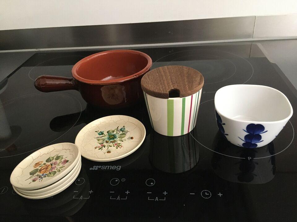 Keramik, sukkerskåle, lercucotte