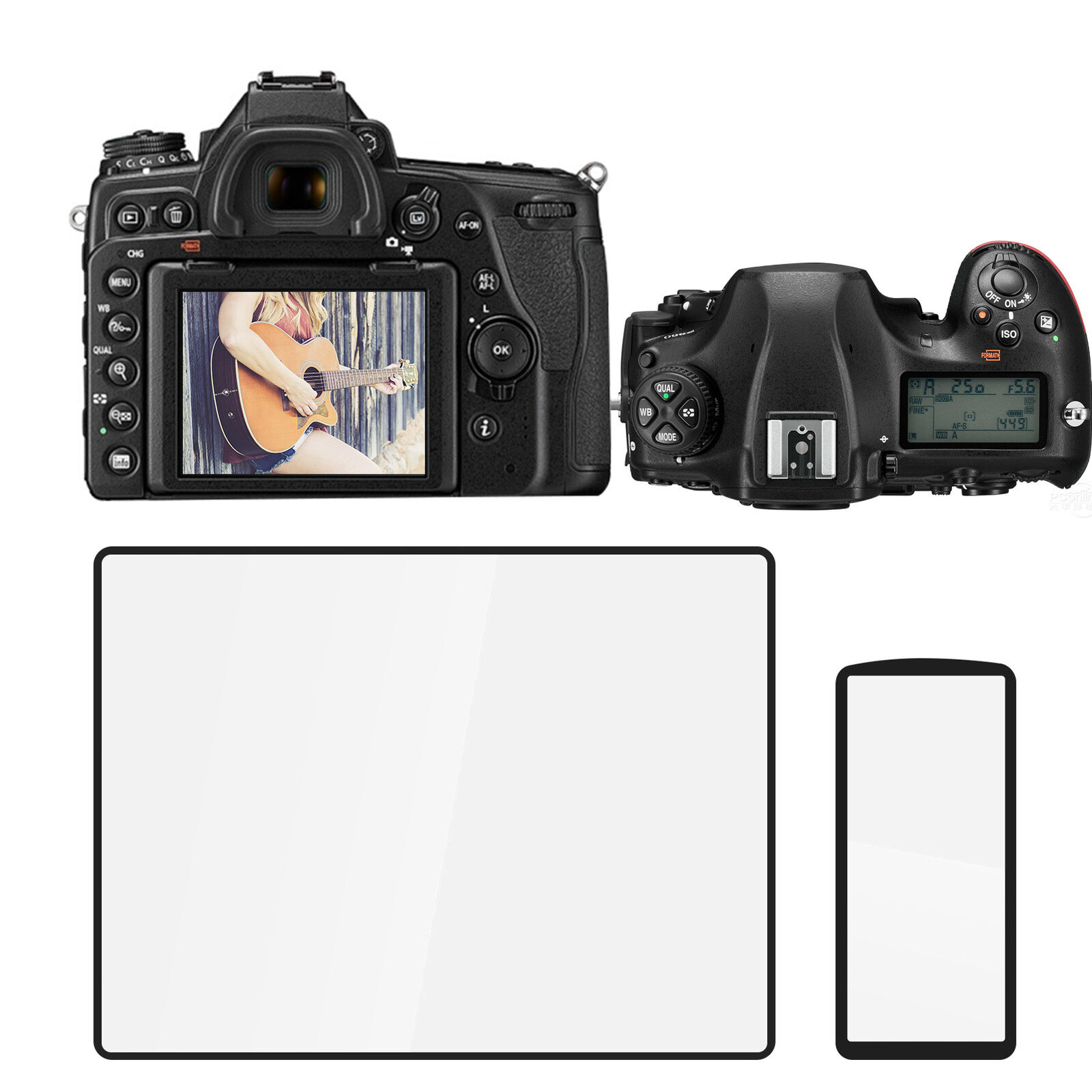 Optical Glass SLR Tempered Glass Screen Protector for Nikon D750/D780 Camera