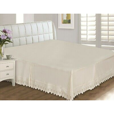 Eyelet Lace 400 Thread Count Bed Skirt