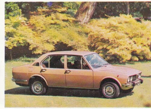 Alfa Romeo Alfetta Sticker 1972 Sammelbild