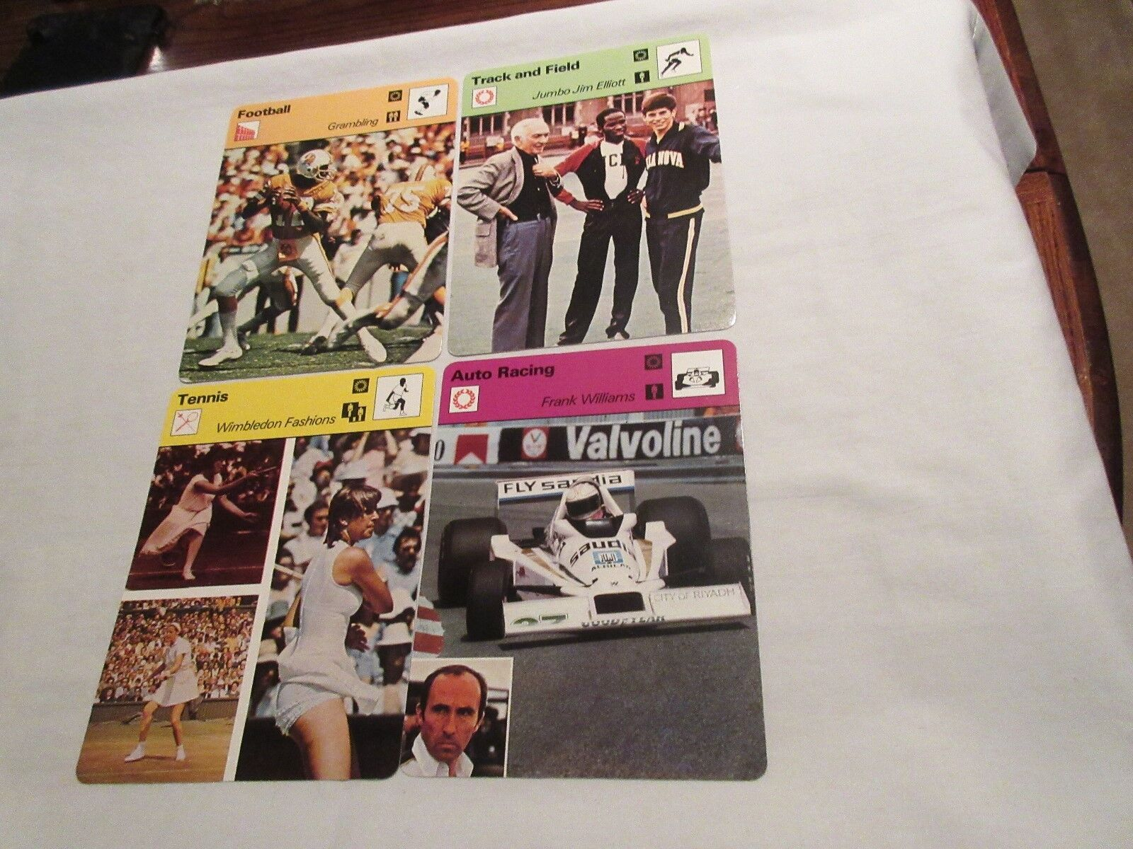 Sportscaster Cards 1978 , Deck # 86 , Cards # 1-24 , DA