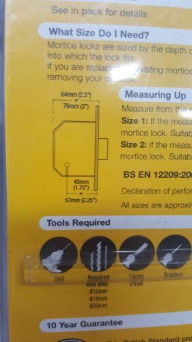 Yale British Standard Deadlock 76mm Brass 5 Lever Max Security Lock PM562PB80
