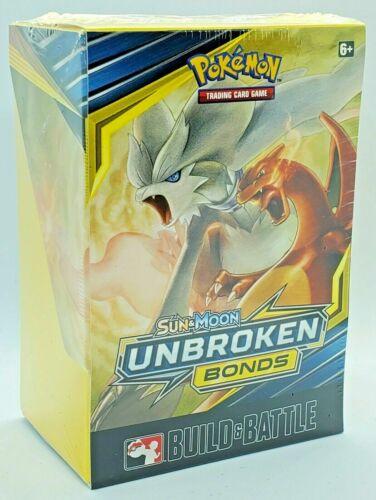 Pokemon TCG Unbroken Bonds Build and Battle Box Prerelease Kit Sun /& Moon