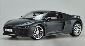 1 18 Audi original manufacturer, Audi R8 V10 Plus alloy model Gift collection