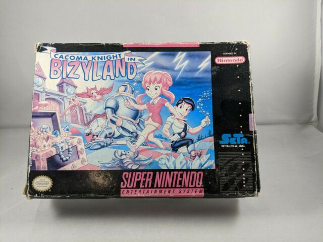 Cacoma Knight in Bizyland (Super Nintendo Entertainment System, 1993) NO GAME