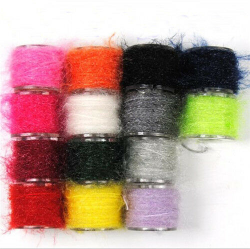 14color Sparkle Fiber Yarn Fly Tying Material Streamer Nymph Scud Tying Material
