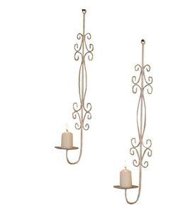 Wandkerzenhalter Kerzenhalter Wandleuchter Teelicht 2er Set mit Teelichthaltern