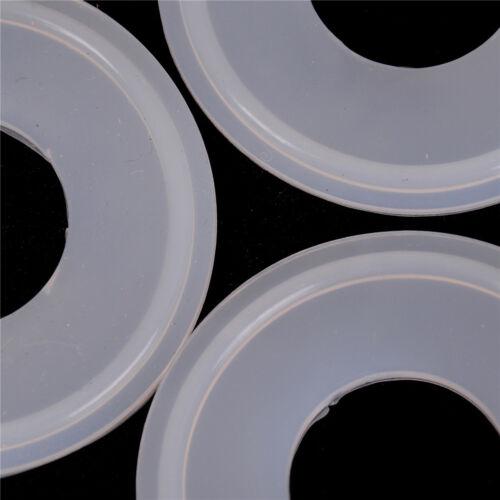 "10Pcs 1/"" Junta De Silicona sanitario TRI CLAMP ajusta 50.5mm Od tipo Virola Brida Hu"