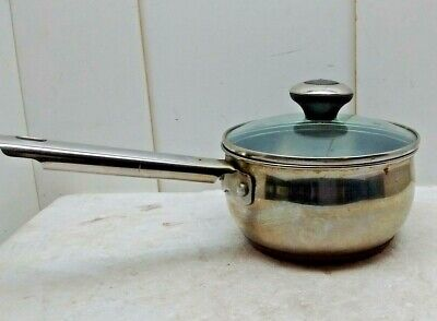 AMC 3-Ply Stainless Steel 1.5-Qt  Saute  Stir Fry Saucepan Pot /& Lid Made In USA