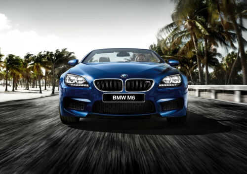 BMW M6 F12 CABRIO NEW A4 POSTER GLOSS PRINT LAMINATED