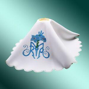 Catholic-Church-Priest-Mass-Altar-Cloth-Chalice-Cover-Flower-Printed-Pall