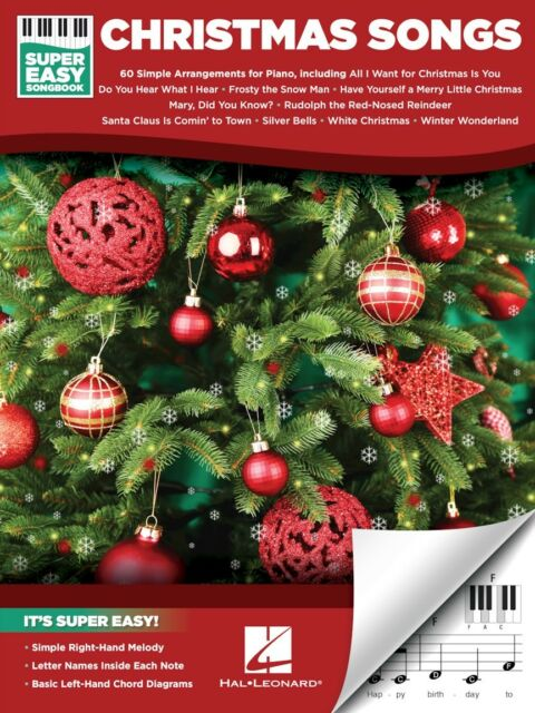 All I Want For Christmas Is You Piano Sheet Music With Letters.Christmas Songs Super Easy Piano Songbook 60 Songs Sheet Music Song Book