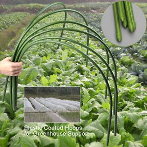 6 Pcs Greenhouse Plant Hoop Grow Garden Tunnel Hoop Support Hoops Garden Tool US