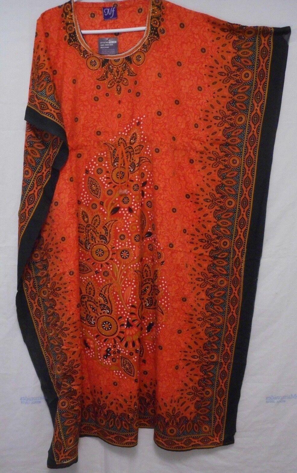 Womens Hippie Boho Caftan Kaftan Kimono Sleeves Cocktail Maxi Dress Plus Size