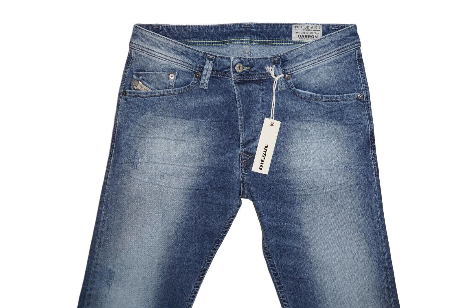 DIESEL Darron 0811E Tapered Jeans W30 L34 100% AUTENTICO