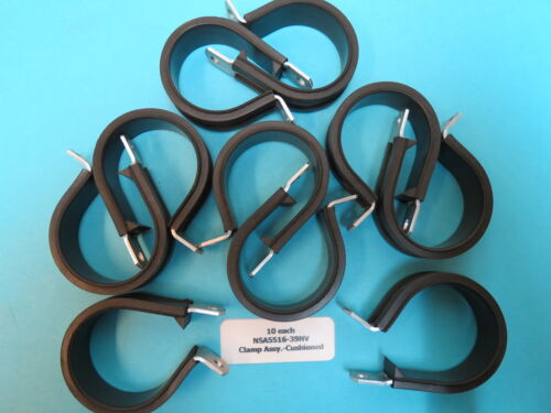 """1-3//8"""" Cushioned Wire Loop Clamps NSA5516-39NV Aerospace Aircraft 10 ea"""