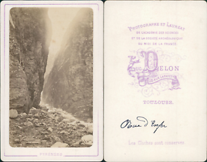 Delon-France-Pyrenees-Pics-Enfer-Vintage-CDV-albumen-carte-de-visite-CDV