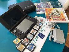 Blue Nintendo 3DS XL 12 RARE GAMES New Pokemon Sun and Moon HeartGold soulsilver