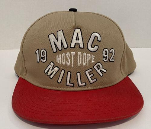 Mac Miller Most Dope 1992 Snapback Hat Tan Brown R