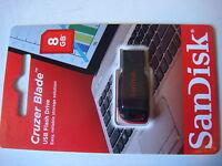 3 Pack Sandisk Cruzer Blade 8gb Usb 2.0 Flash Drive (black/red) 29017-4 -+