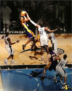Details About Kobe Bryant Unsigned 16x20 Photo Amazing Jump Shot Vs Dwight Howard Lakers Uda