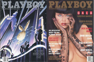 PLAYBOY-1988-Lot-of-2-January-Anniv-Issue-December-Gala-Xmas-Playmate-Revw-Cher