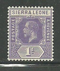 Album-Treasures-Sierra-Leone-Scott-123-1p-George-V-Mint-VLH