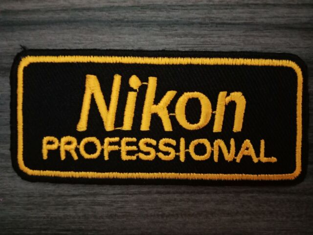 Nikon PROFESSIONAL Embroidered Iron on Patches or Sew on Jacket Hat Shirt  Bag