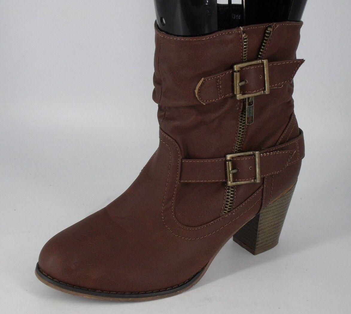Barratt's Zip Up Ankle Boot's Brown Size NH091 ii 05