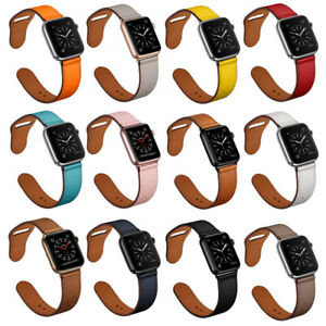 Genuine-Leather-Apple-Watch-Band-Strap-Bracelet-For-iWatch-Series-SE-6-5-4-3-2-1