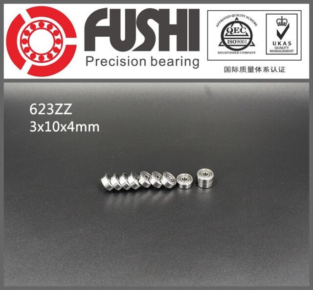 623ZZ Bearing 3x10x4 mm ABEC-5 (10PC) Miniature 623 Z ZZ Ball Bearings 623-2Z