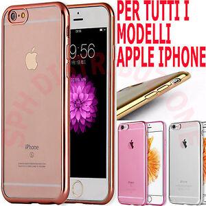 COVER-Pellicola-Custodia-BUMPER-in-SILICONE-sottile-e-MORBIDA-per-Apple-Iphone