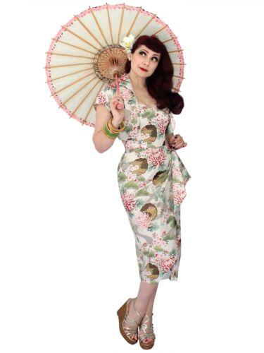 1940s Dresses | 40s Dress, Swing Dress   1940s Style Vivien of Holloway Sarong Dress Oasis Tropical Wrap Pin-Up Tiki £140.00 AT vintagedancer.com