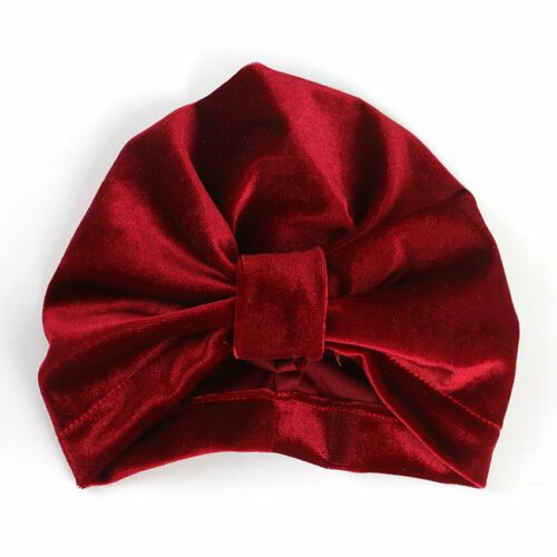 Velvet Cotton Newborn Toddler Kids Baby Boy Girl Bow Knot Turban Beanie Hat Cap