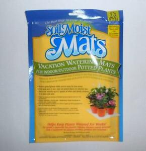 2pc PKG of SOIL MOIST WATERING VACATION MATS  (they water for up to 3 weeks)