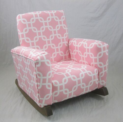 New Children/'s Upholstered Rocking Chair Gotcha Pink Toddle Rock for Kids